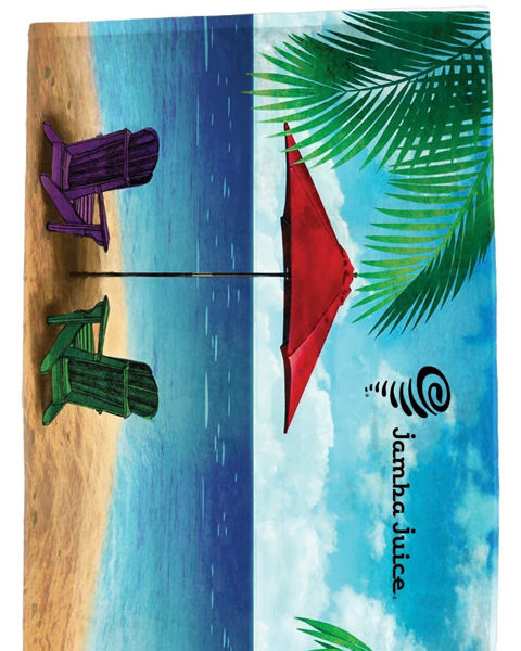 "Picture of ""Water's Edge"" Stock Design Beach Towel"